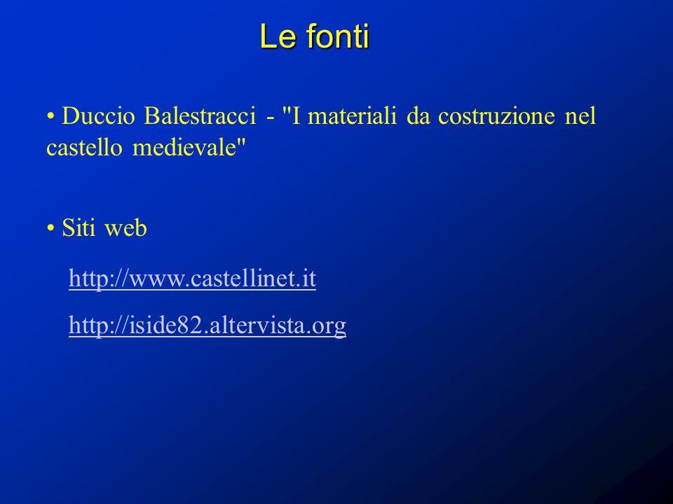 Le fonti Duccio Balestracci -