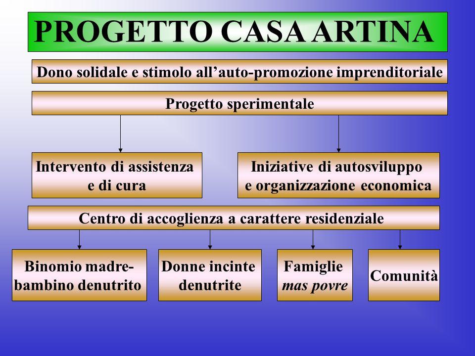 PROGETTO CASA ARTINA Centro di accoglienza a carattere residenziale Progetto sperimentale Intervento di assistenza e di cura Iniziative di autosvilupp