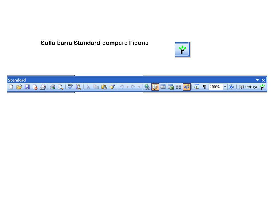 Sulla barra Standard compare licona