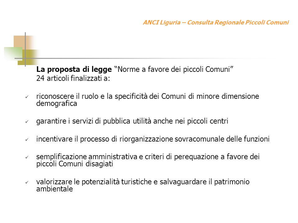 ANCI Liguria – Consulta Regionale Piccoli Comuni La vicenda delle Comunità Montane e il ruolo della Consulta Il negoziato tra la Consulta e la Regione porta allinserimento di parti sostanziali della nostra proposta di legge nella L.R.