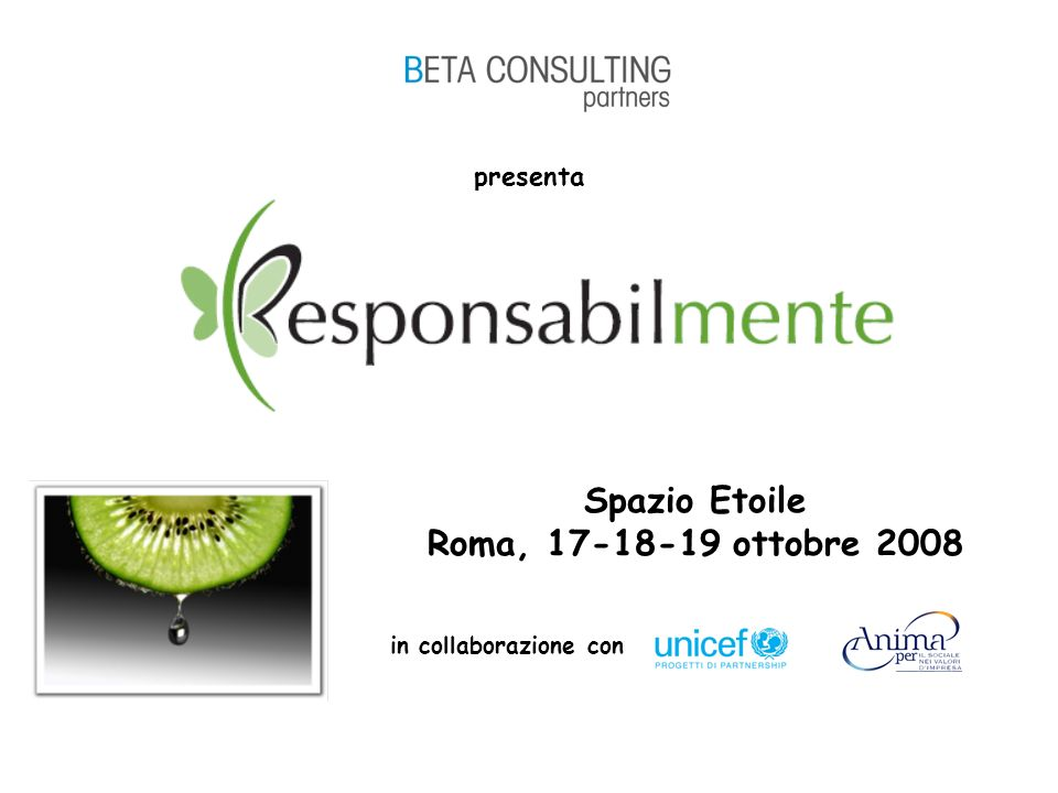 presenta Spazio Etoile Roma, 17-18-19 ottobre 2008 in collaborazione con
