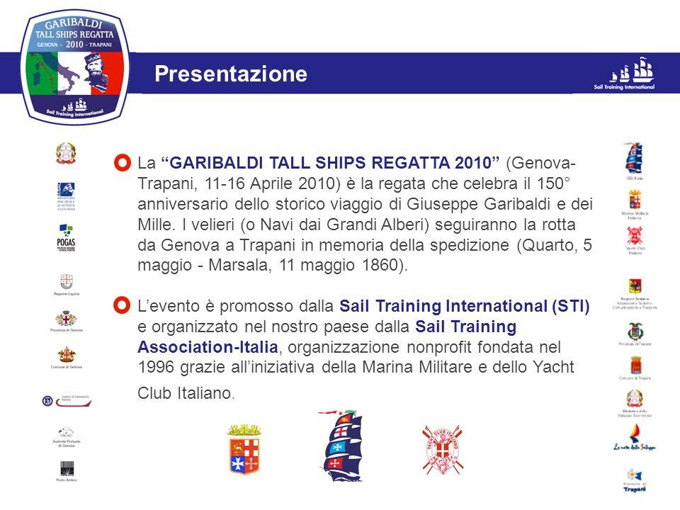 L'evento Presentazione La GARIBALDI TALL SHIPS REGATTA 2010 (Genova- Trapani, 11-16 Aprile 2010) è la regata che celebra il 150° anniversario dello st