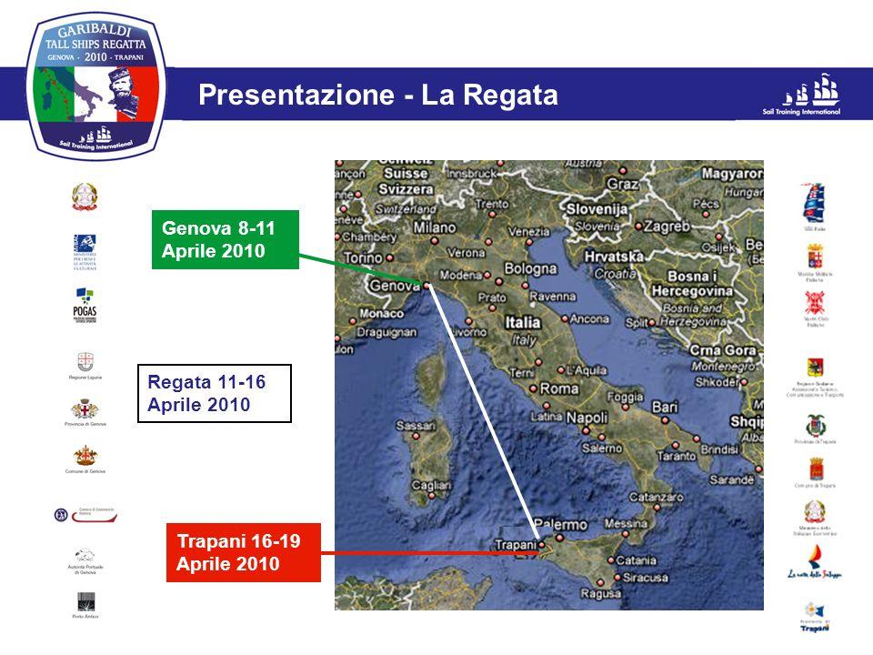 L'evento Presentazione - La Regata Genova 8-11 Aprile 2010 Trapani 16-19 Aprile 2010 Regata 11-16 Aprile 2010