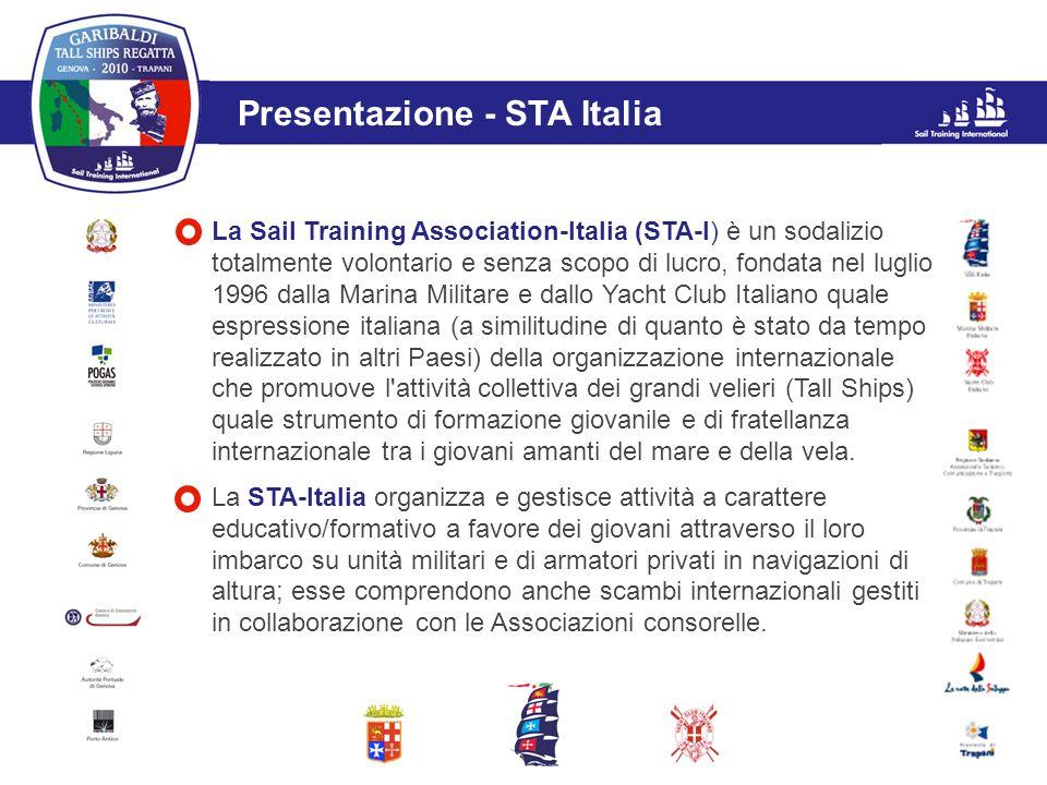 L'evento Presentazione - STA Italia La Sail Training Association-Italia (STA-I) è un sodalizio totalmente volontario e senza scopo di lucro, fondata n