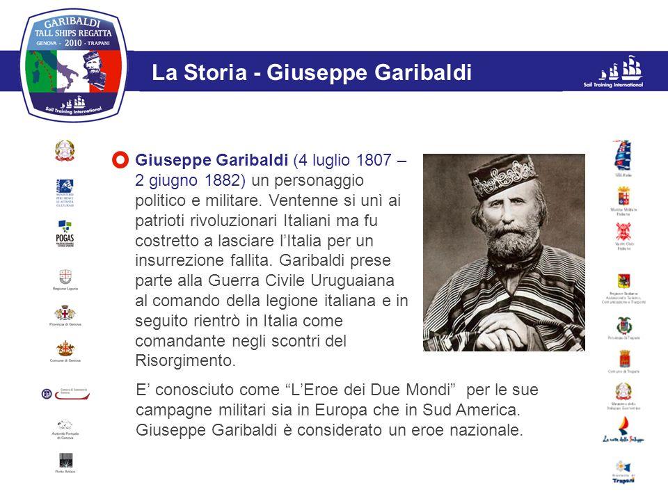 L'evento La Storia - Giuseppe Garibaldi Giuseppe Garibaldi (4 luglio 1807 – 2 giugno 1882) un personaggio politico e militare. Ventenne si unì ai patr