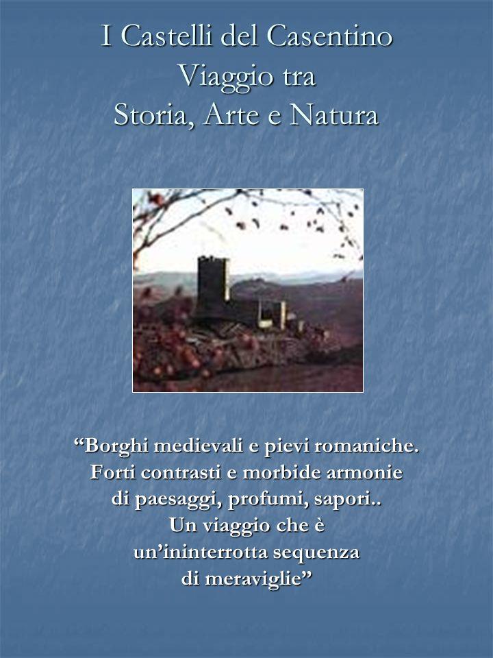 I Castelli del Casentino Viaggio tra Storia, Arte e Natura Borghi medievali e pievi romaniche. Forti contrasti e morbide armonie di paesaggi, profumi,