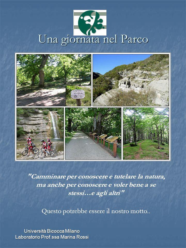 Università Bicocca Milano Laboratorio Prof.ssa Marina Rossi Una giornata nel Parco