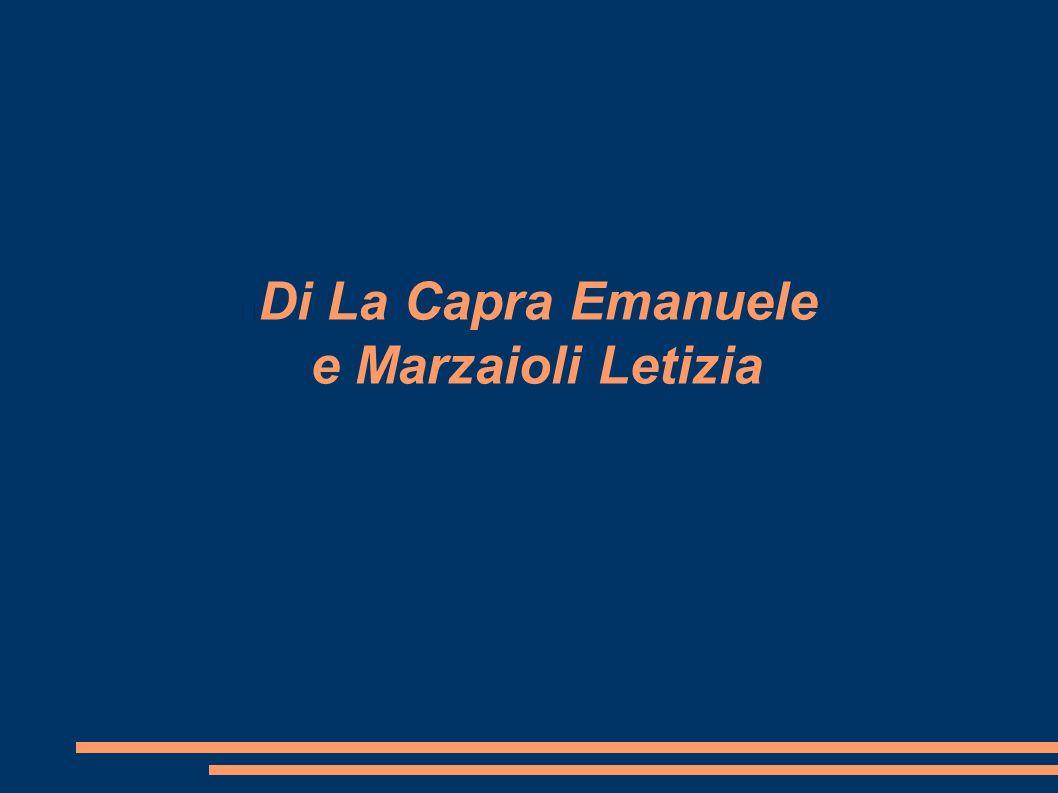 Di La Capra Emanuele e Marzaioli Letizia