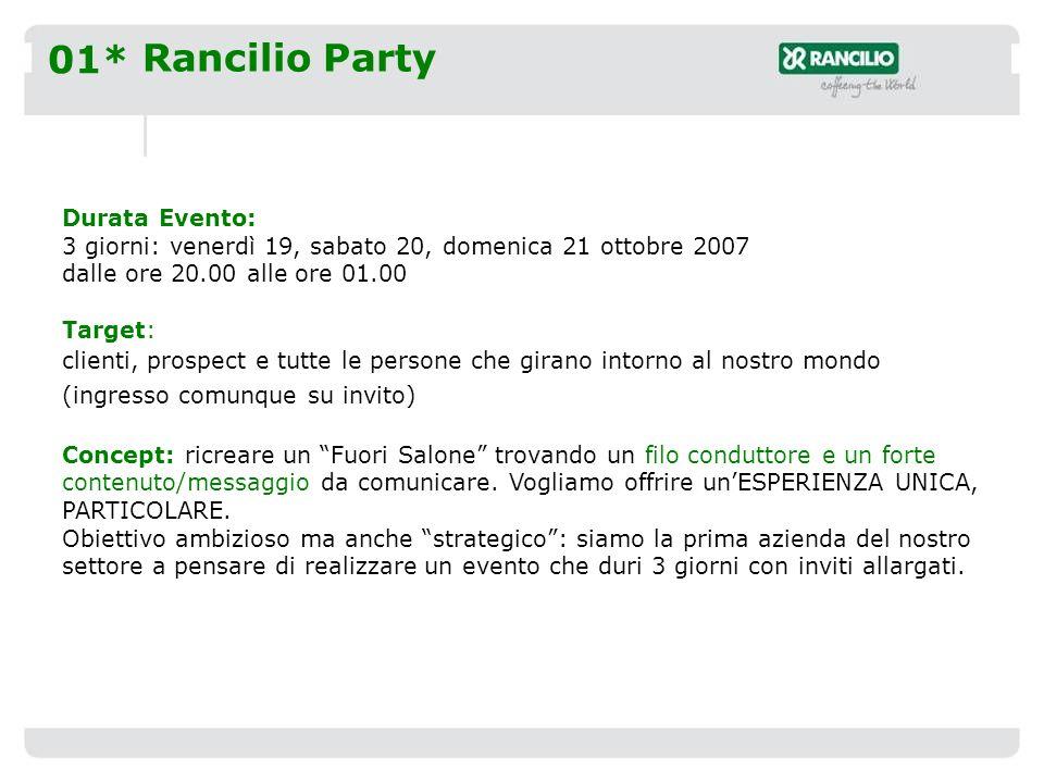 02* Rancilio Party Ingredienti: Mistero e sensorialità.
