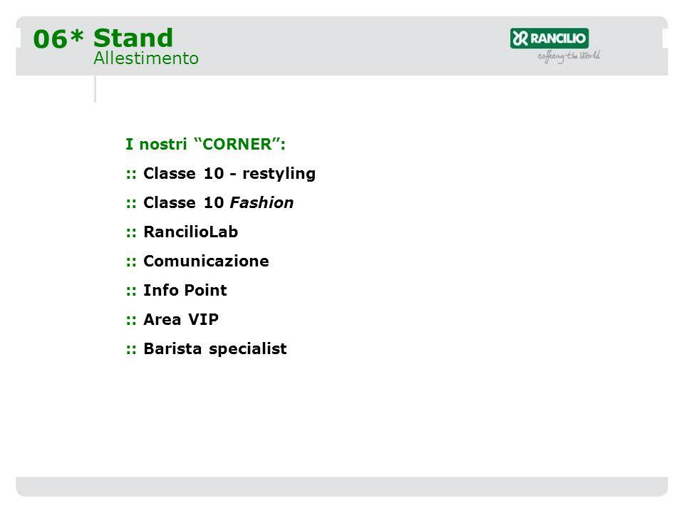 07* Corner Classe 10 Restyling Classe 10 è il nostro prodotto di punta.