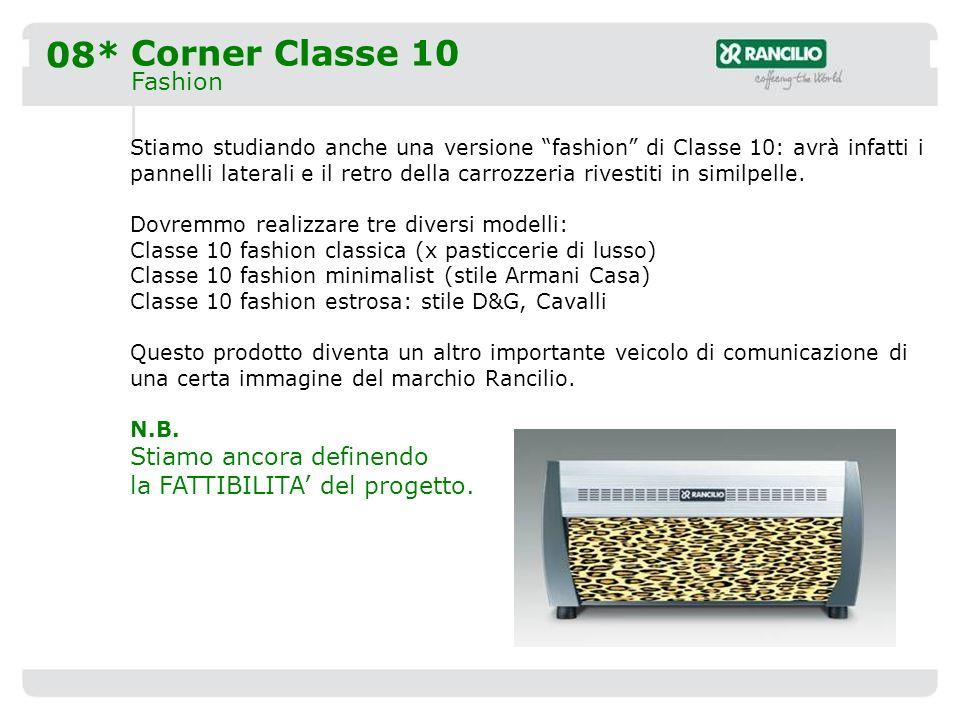 08* Corner Classe 10 Fashion Stiamo studiando anche una versione fashion di Classe 10: avrà infatti i pannelli laterali e il retro della carrozzeria rivestiti in similpelle.