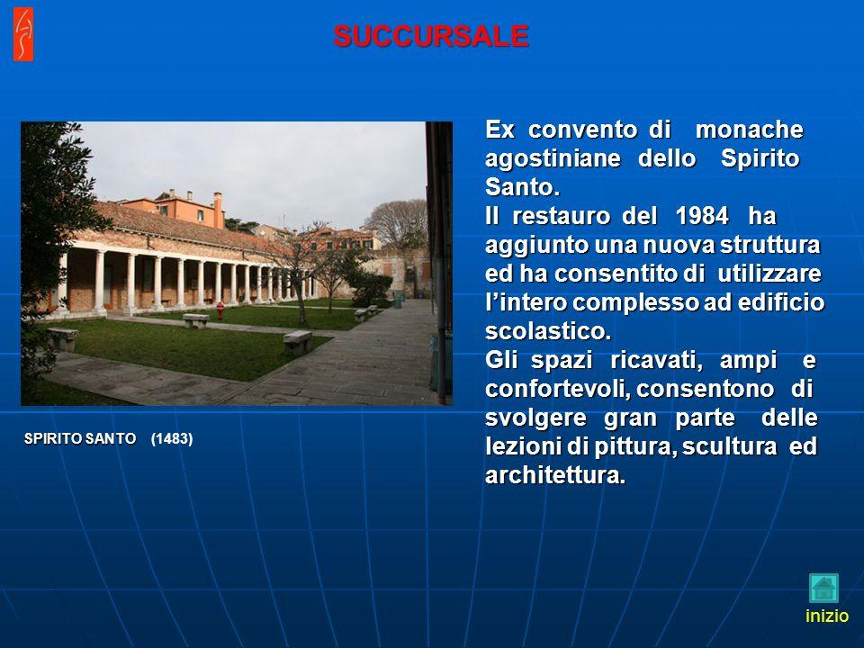 Ex convento di monache agostiniane dello Spirito Santo. Il restauro del 1984 ha aggiunto una nuova struttura ed ha consentito di utilizzare lintero co