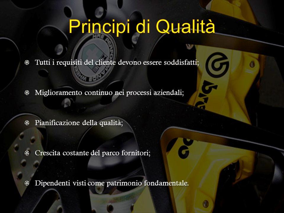 Tutti i requisiti del cliente devono essere soddisfatti; Miglioramento continuo nei processi aziendali; Pianificazione della qualità; Crescita costant