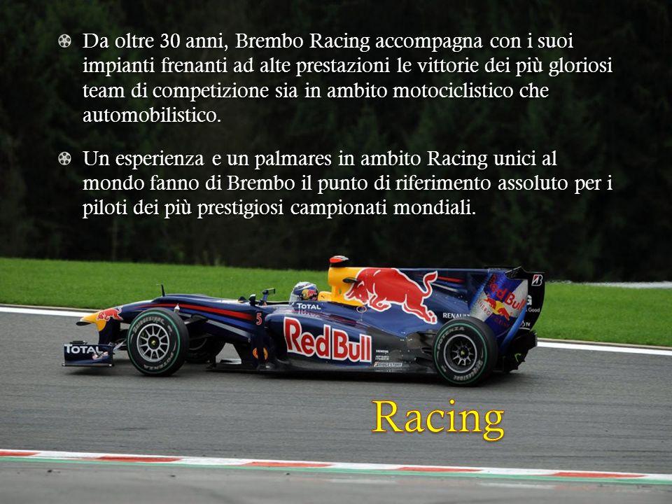Da oltre 30 anni, Brembo Racing accompagna con i suoi impianti frenanti ad alte prestazioni le vittorie dei più gloriosi team di competizione sia in a