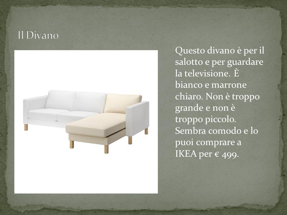 Questo divano è per il salotto e per guardare la televisione.