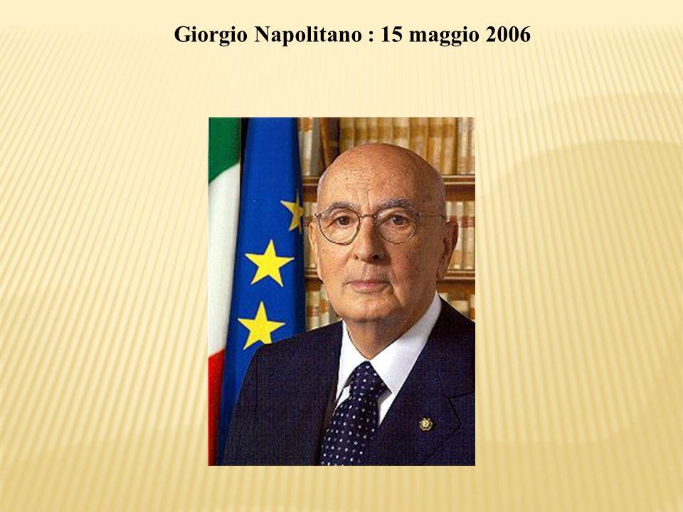 Giorgio Napolitano : 15 maggio 2006