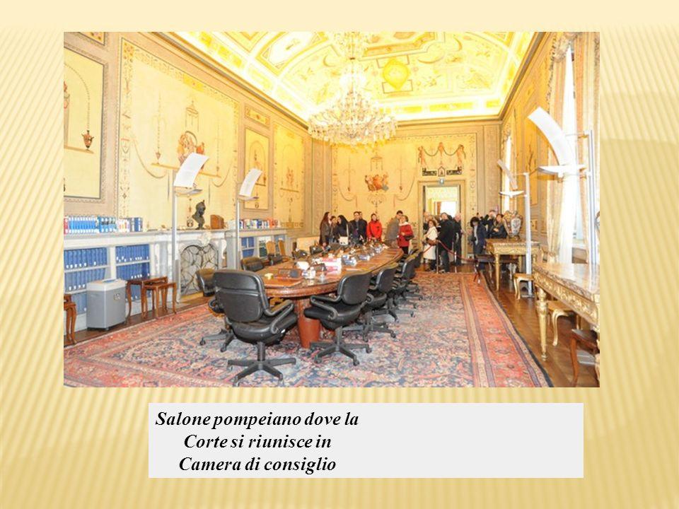 Salone pompeiano dove la Corte si riunisce in Camera di consiglio