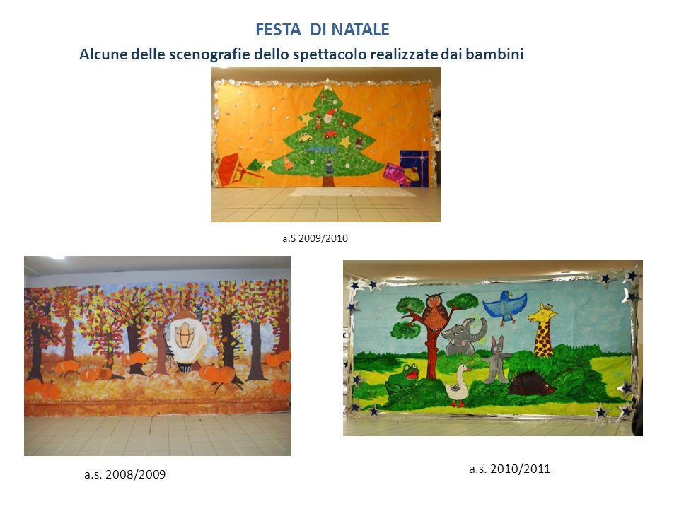 Alcune delle scenografie dello spettacolo realizzate dai bambini FESTA DI NATALE a.s. 2008/2009 a.s. 2010/2011 a.S 2009/2010