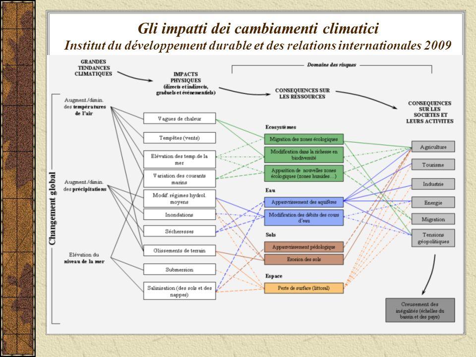 Gli impatti dei cambiamenti climatici Institut du développement durable et des relations internationales 2009