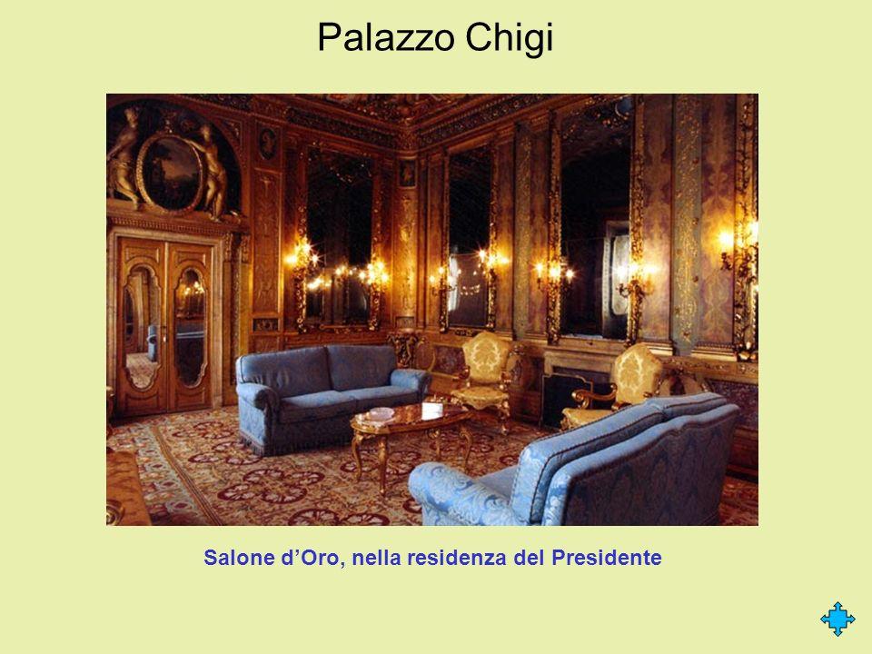 Palazzo Chigi Salone dOro, nella residenza del Presidente