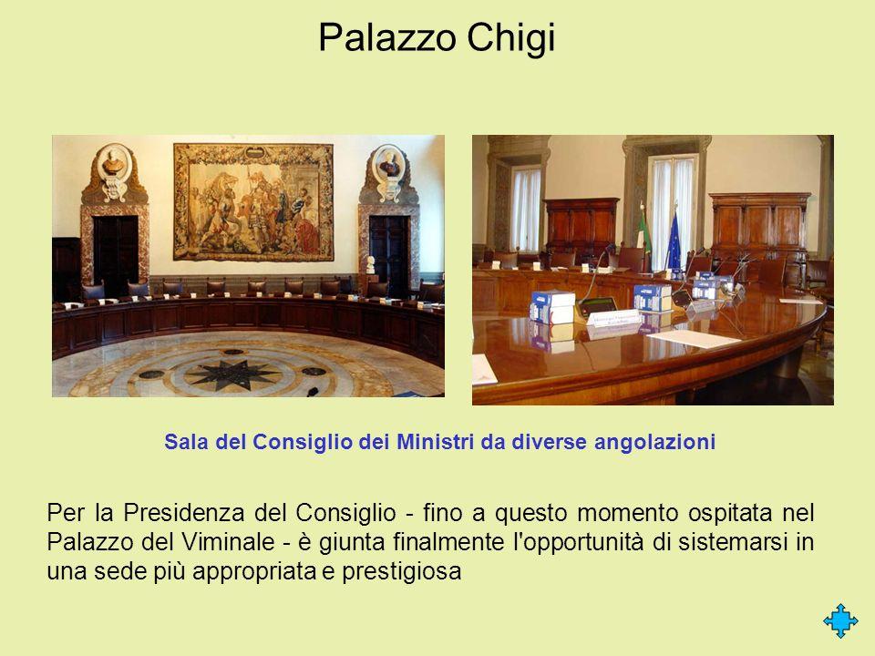 Palazzo Chigi Per la Presidenza del Consiglio - fino a questo momento ospitata nel Palazzo del Viminale - è giunta finalmente l'opportunità di sistema