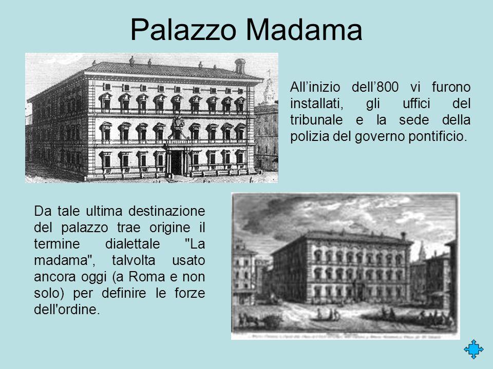 Palazzo Madama Da tale ultima destinazione del palazzo trae origine il termine dialettale