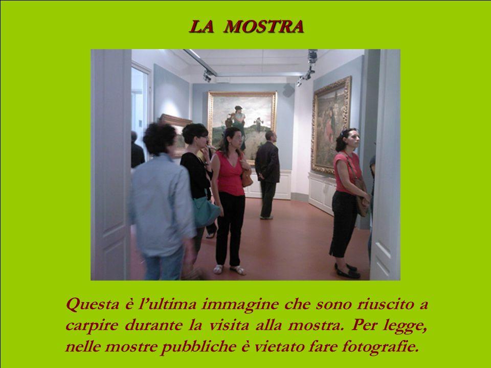 LA MOSTRA La sala più bella e rappresentativa: Sulla parete di sinistra, Buoi al pascolo Sulla parete di destra, Marcatura dei cavalli Dalla finestra,