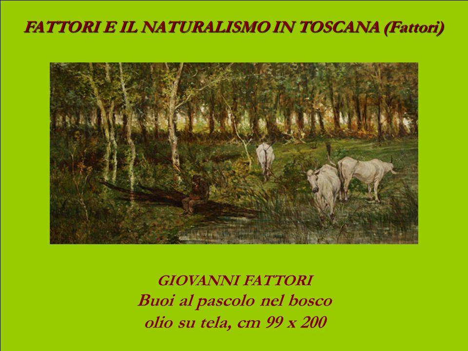 Biografia di Giovanni Fattori (1825 – 1908) Nato a Livorno si forma, giovanissimo, nello studio del livornese Giuseppe Baldini; nel 1846 si trasferisc