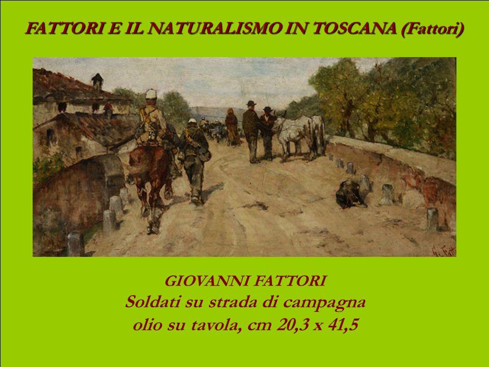 FATTORI E IL NATURALISMO IN TOSCANA (Fattori) GIOVANNI FATTORI Buoi al pascolo nel bosco olio su tela, cm 99 x 200