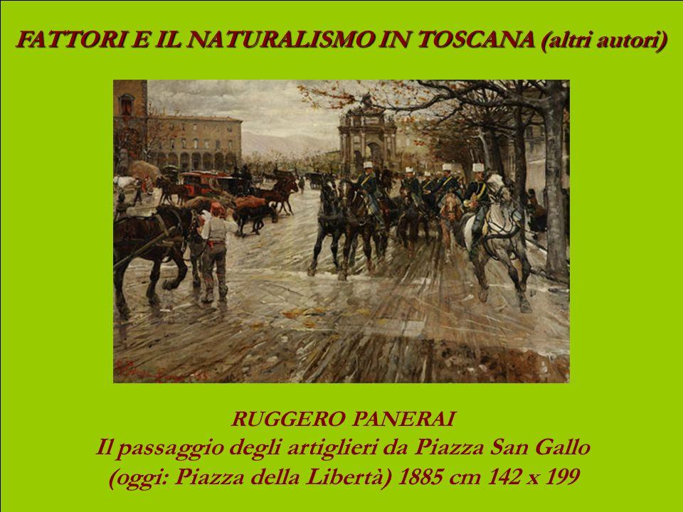 FATTORI E IL NATURALISMO IN TOSCANA (altri autori) FRANCESCO GIOLI Primavera (1879) olio su tela, cm 50,5 x 132,5