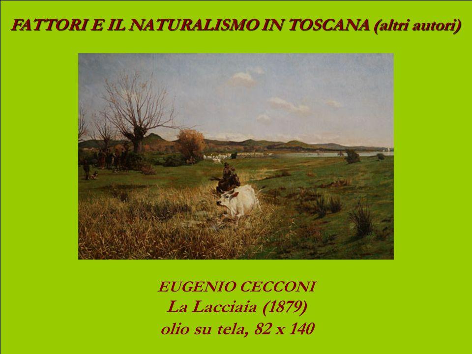 FATTORI E IL NATURALISMO IN TOSCANA (altri autori) NICCOLO CANNICCI Inverno triste (1899) olio su tela, 157,5 x 137,5