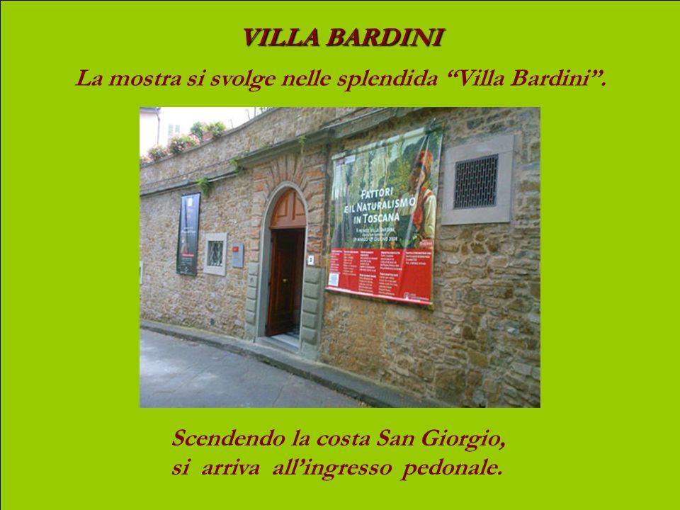 VILLA BARDINI La mostra si svolge nelle splendida Villa Bardini.