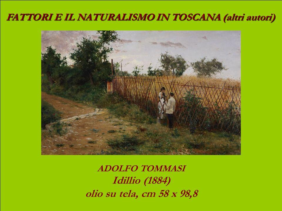 FATTORI E IL NATURALISMO IN TOSCANA (altri autori) LUIGI GIOLI Labbeverata 1896 olio su tela, cm 70 x 139,5 (oggi: Viale F. Strozzi)