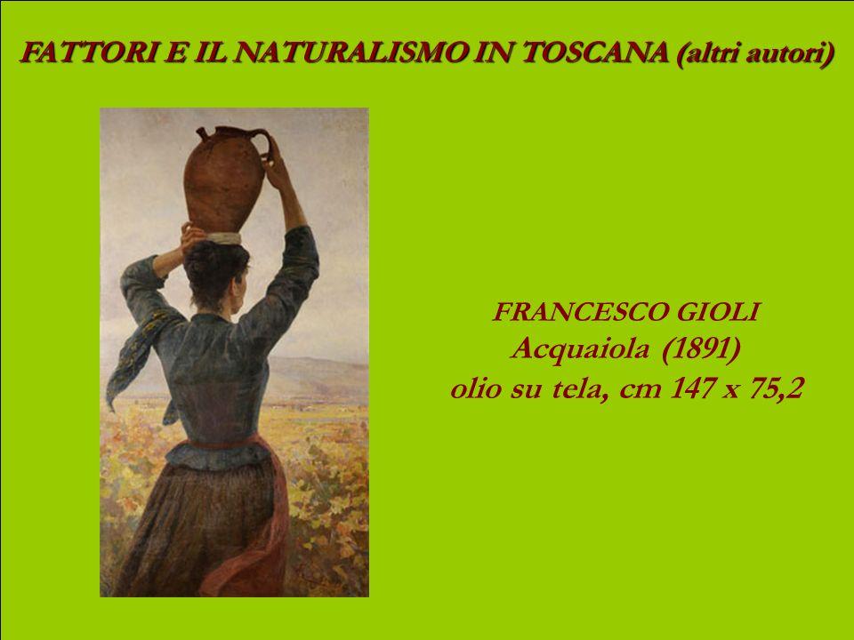 FATTORI E IL NATURALISMO IN TOSCANA (altri autori) LUIGI GIOLI Pascolo di cavalli, (1885-90 c.) olio su tavola, cm 23 x 46,5