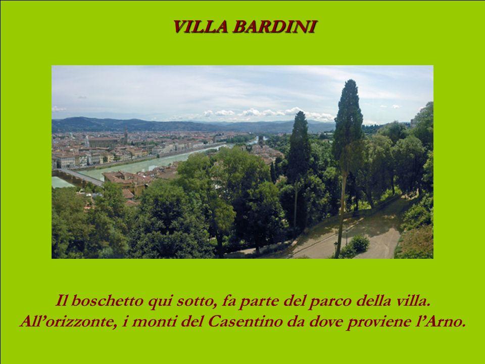 VILLA BARDINI In lontananza, la collina di Fiesole. Al centro sulla destra, la chiesa di Santa Croce.