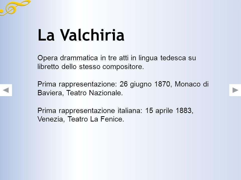 Nel 1870 sposò Cosima Liszt. Progettò e fece costruire a Bayreuth un teatro adatto alla rappresentazione delle sue opere. Morì nel 1833 a Venezia, cit