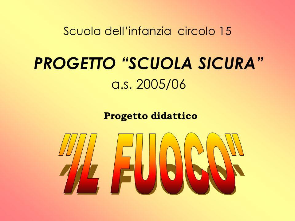 Scuola dellinfanzia circolo 15 PROGETTO SCUOLA SICURA a.s. 2005/06 Progetto didattico