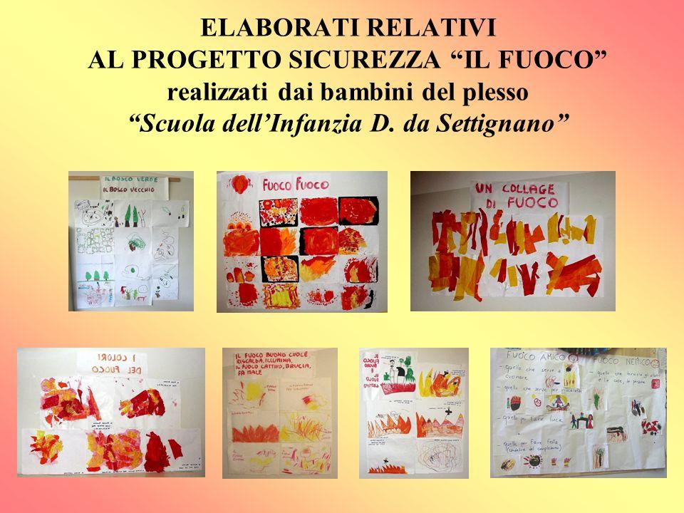 ELABORATI RELATIVI AL PROGETTO SICUREZZA IL FUOCO realizzati dai bambini del plesso Scuola dellInfanzia D. da Settignano