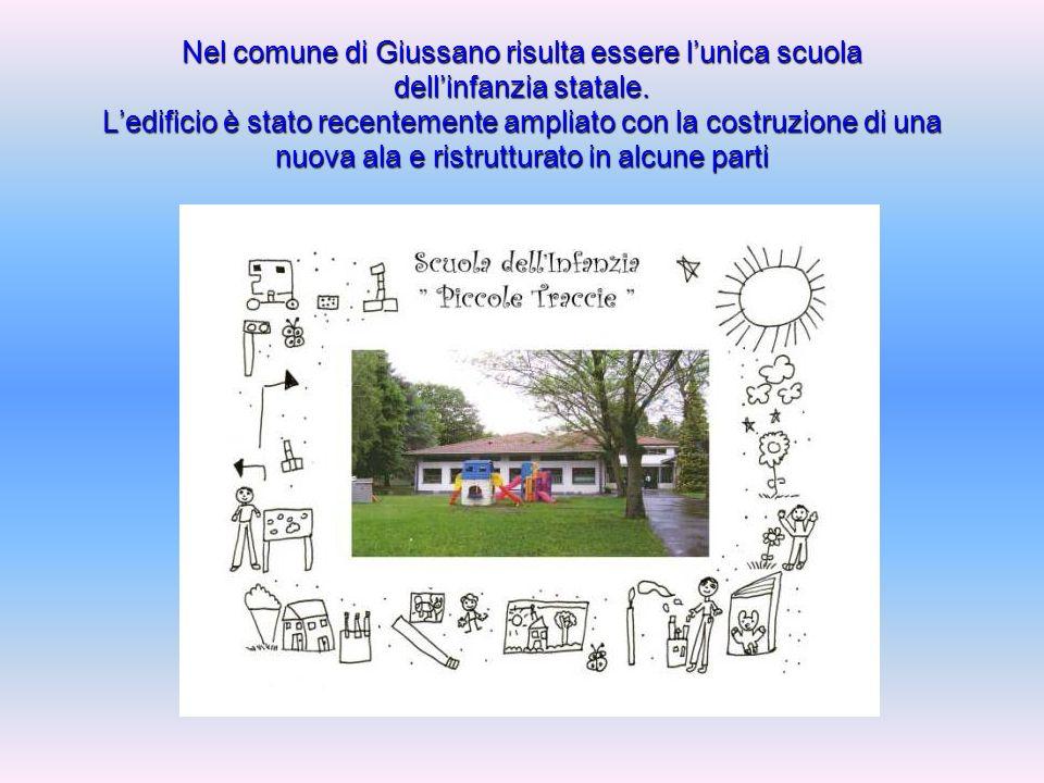 Nel comune di Giussano risulta essere lunica scuola dellinfanzia statale.
