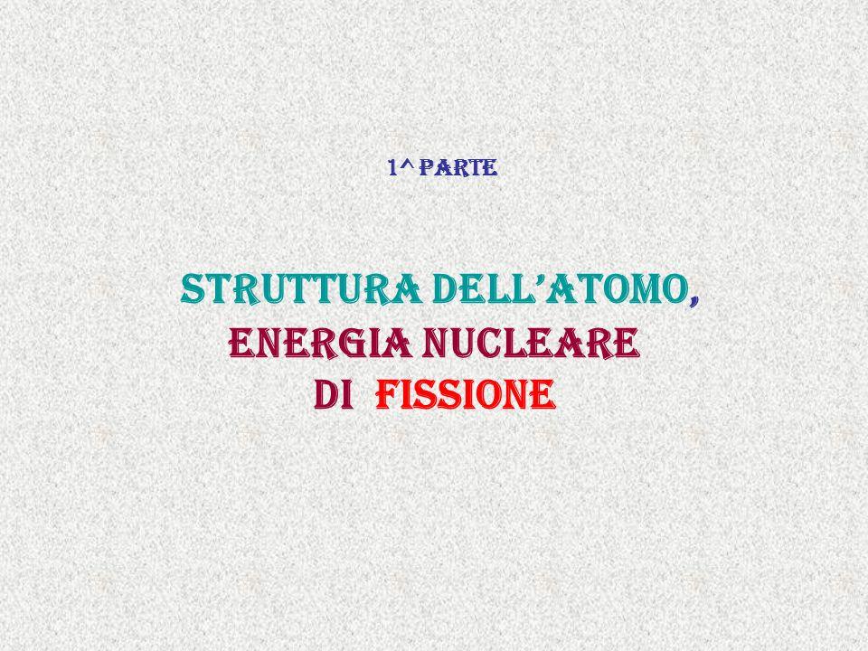 1^ parte struttura dellatomo, Energia nucleare di fissione