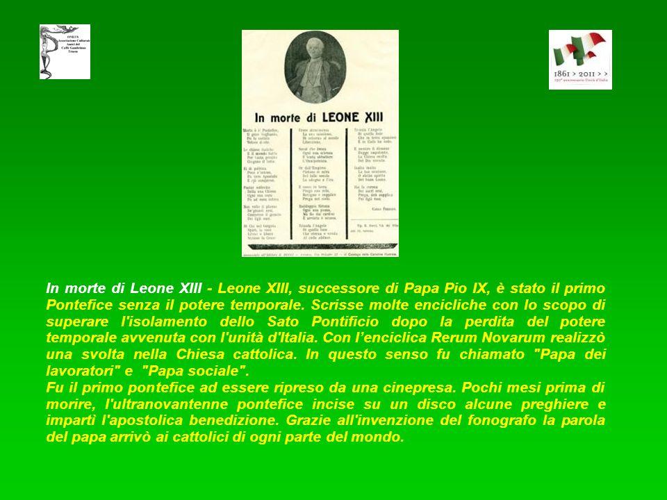 Pio IX in cielo - I liberali applaudirono alla sua incoronazione nel 1846. Promosse una Lega doganale tra gli Stati italiani, un tentativo politico- d