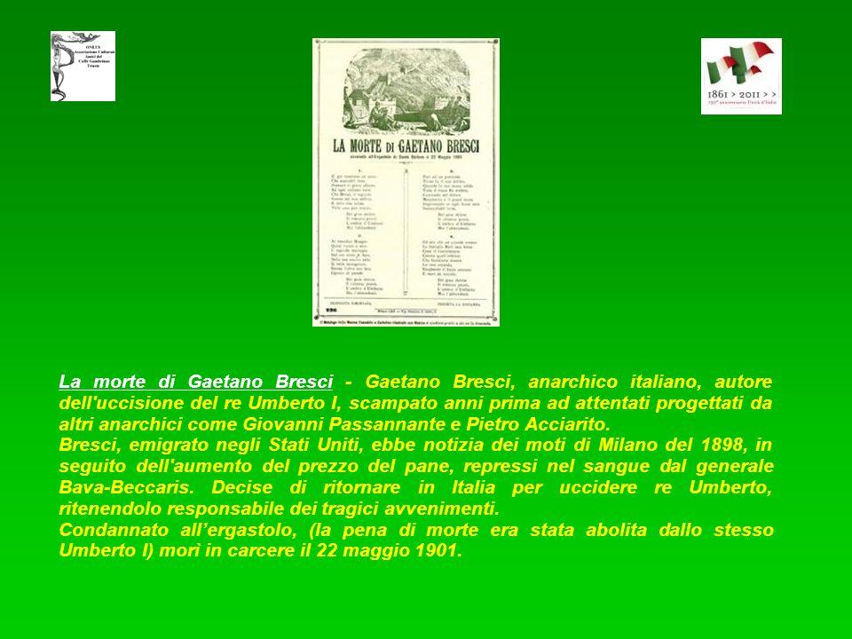 Il Leale Re Umberto assassinato da un anarchico - Umberto I fu Re d'Italia dal 1878 al 1900, dopo Vittorio Emanuele. Ricordato positivamente da alcuni