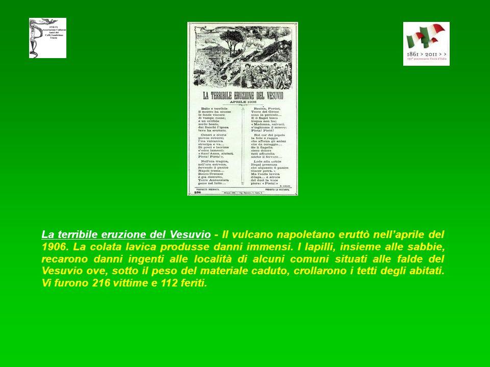 Le stragi del Colera - Unesplosione di colera funestò tutta la penisola fin quasi alla fine del 1887. A Napoli i casi di colera furono 15822 con una m