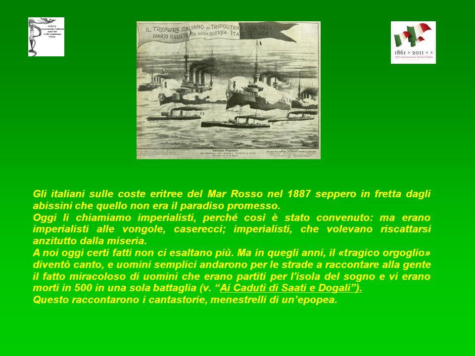 Le Guerre Coloniali Il colonialismo italiano fu l'espansione della sovranità su territori dell'Africa e dell'Europa. Finanche in Cina vi fu una piccol