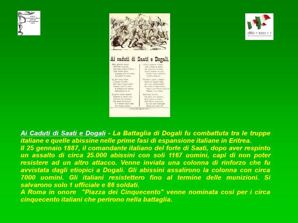 Ritorno dalla Baia dAssab - Il colonialismo italiano ebbe inizio con il possesso dei porti di Assab e Massaua sulla costa africana del mar Rosso negli