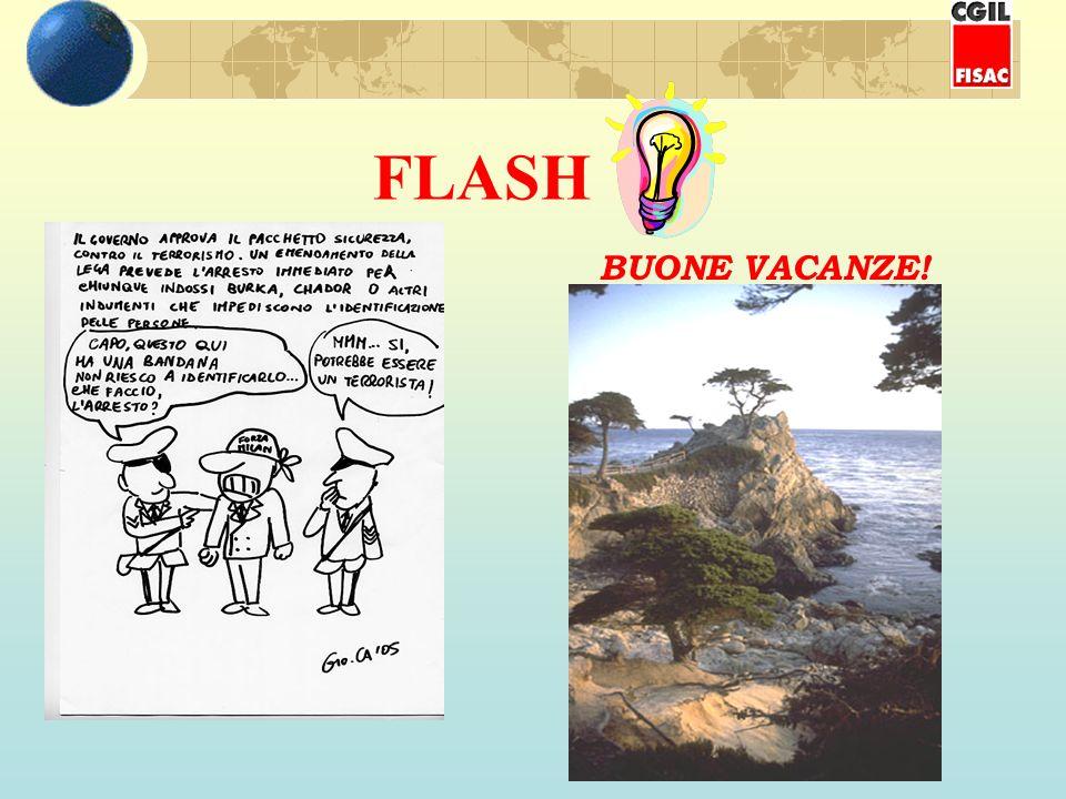 FLASH BUONE VACANZE!