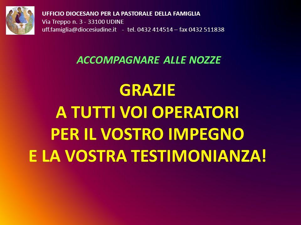UFFICIO DIOCESANO PER LA PASTORALE DELLA FAMIGLIA Via Treppo n. 3 - 33100 UDINE uff.famiglia@diocesiudine.it - tel. 0432 414514 – fax 0432 511838 ACCO