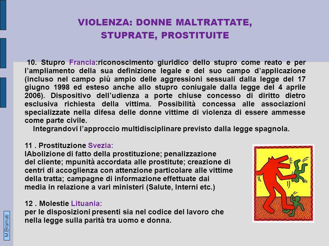 VIOLENZA: DONNE MALTRATTATE, STUPRATE, PROSTITUITE 10.