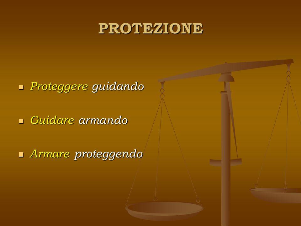 PROTEZIONE Proteggere guidando Proteggere guidando Guidare armando Guidare armando Armare proteggendo Armare proteggendo