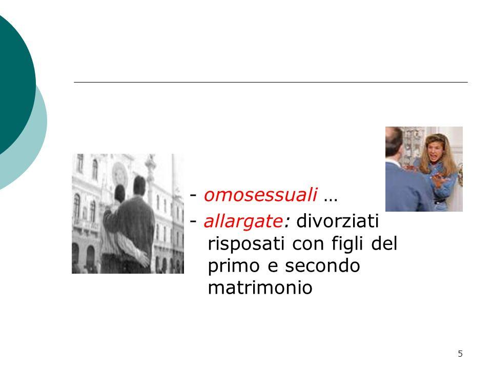 5 - omosessuali … - allargate: divorziati risposati con figli del primo e secondo matrimonio
